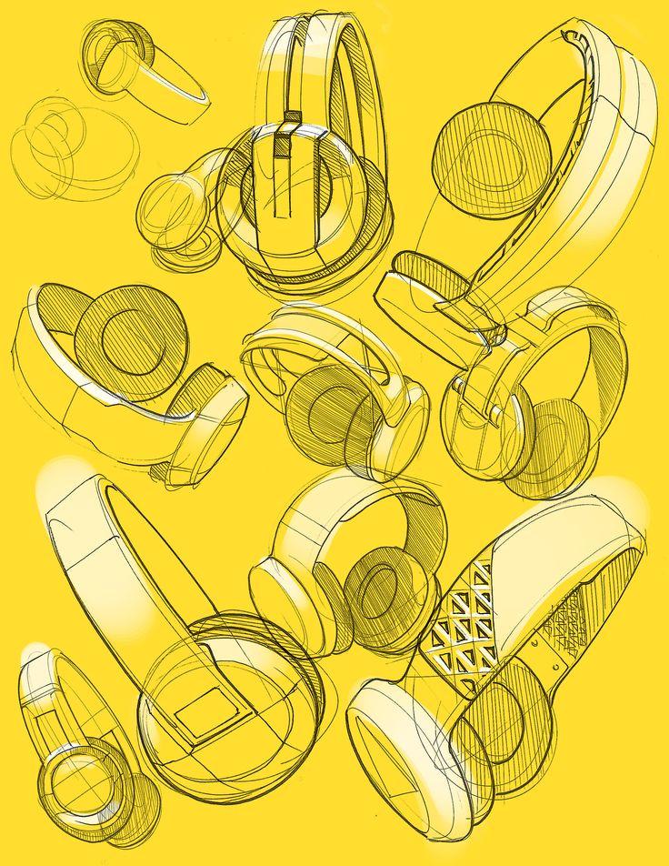 headphones concept ideation sketch