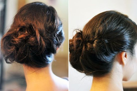 updo hairstyle for weddings with hair extensions