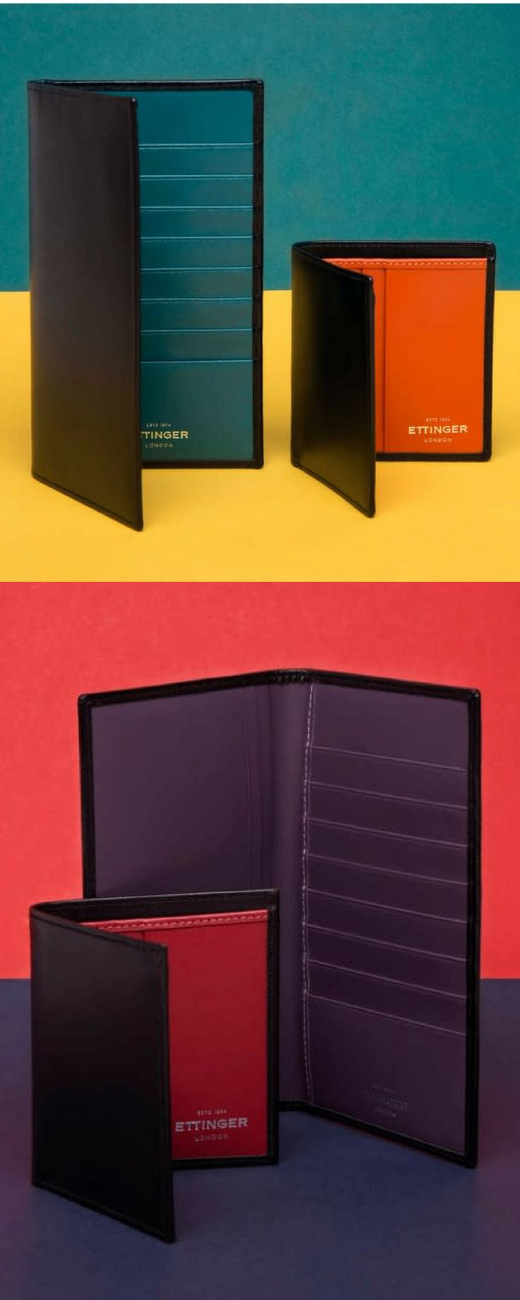 The Sterling Collection of wallets offers a striking array of interior hues inspired by the regal colours of the British banknotes. Handmade in England, Ettinger's iconic leather wallets are a celebration of the best of British style: elegance with a touch of eccentricity. Shop Ettinger at betty hemmings online or in our Yorkville, Toronto store.