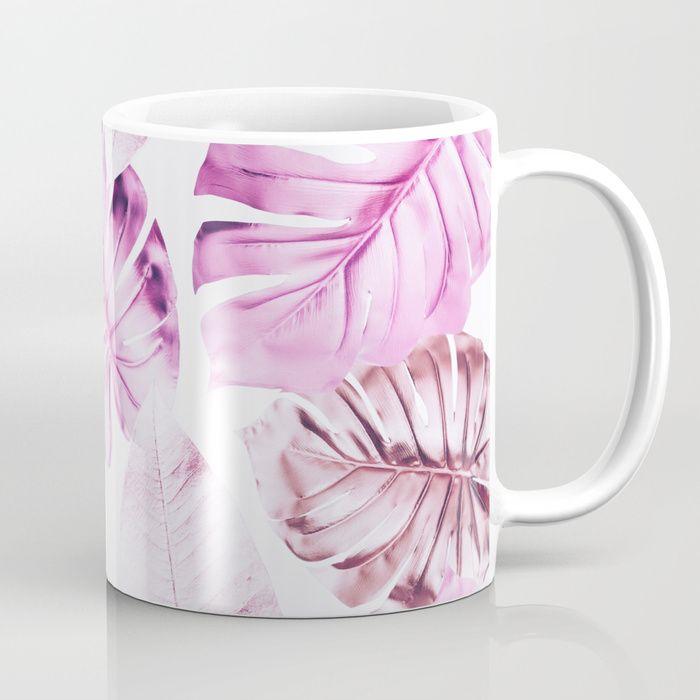 Pastel Monstera pattern Coffee Mug