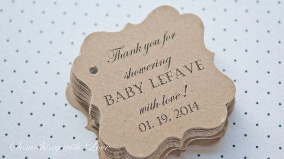 Baby Shower Gift TagsBaby Shower Paper by SomethingwithLove, $15.00