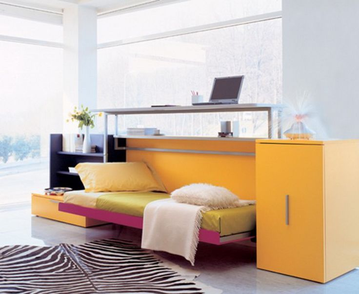 Small Work Space Ideas Use Functional Folding Bed Design 3