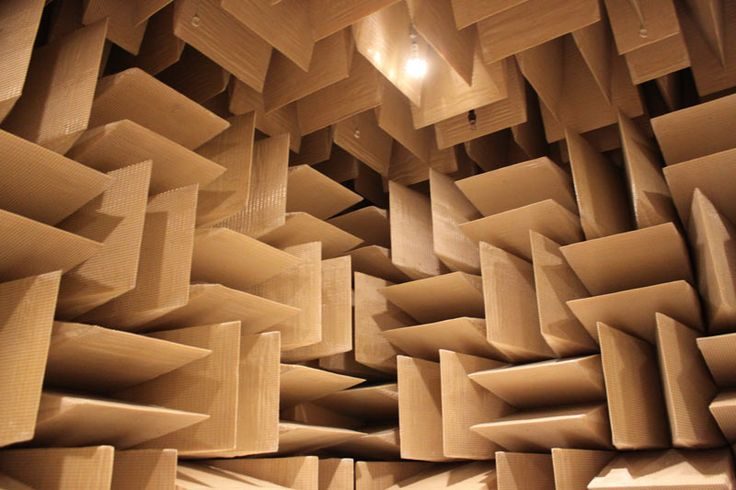 Anechoic chamber at Microsoft Redmond Campus. Photograph courtesy of Wilson Rothman