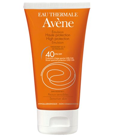 High protection emulsion SPF 40 tinosorb M+S | Eau Thermale Avène