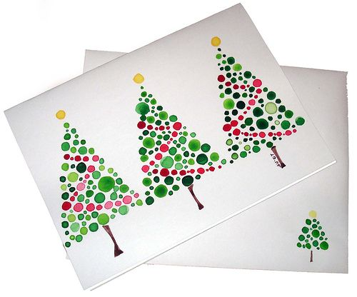 Christmas Card Handpainted Watercolor | by Jellybeans1