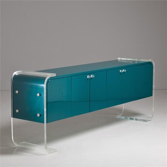 Vintage 1970s Lucite buffet. Kris, Picture this... but as a fish tank table in the living room. Haha