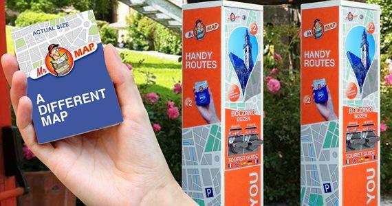 Mr Map è distributore mappe tascabili per soddisfare il desiderio di informazione ed orientamento.