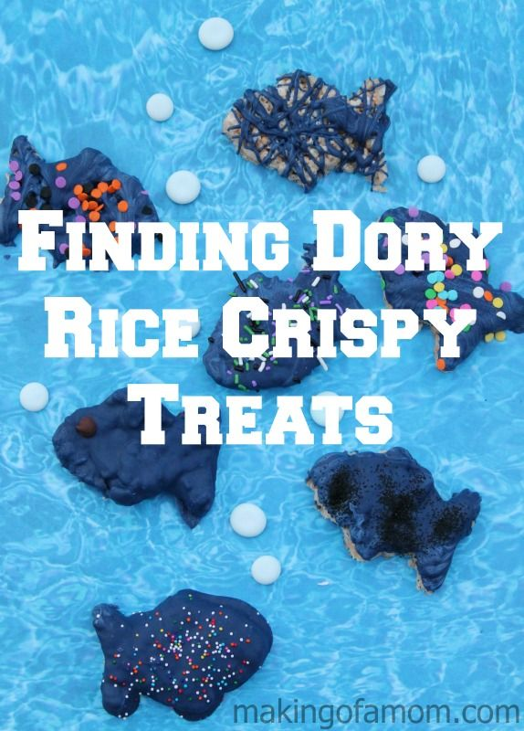 Finding Dory Rice Crispy Treats plus Finding Dory party bags and activity pages!