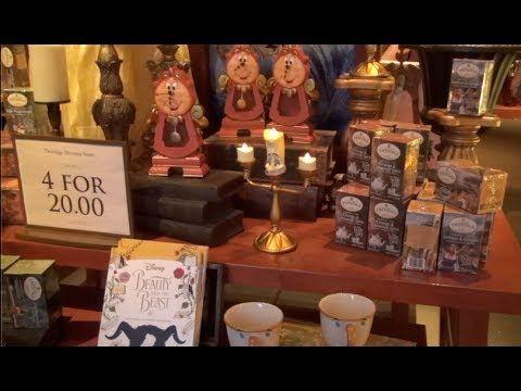 ºoº WDW 美女と野獣のグッズショップ ボンジュール・ヴィレッジ・ギフト ショップ Beauty and the Beast gifts s...