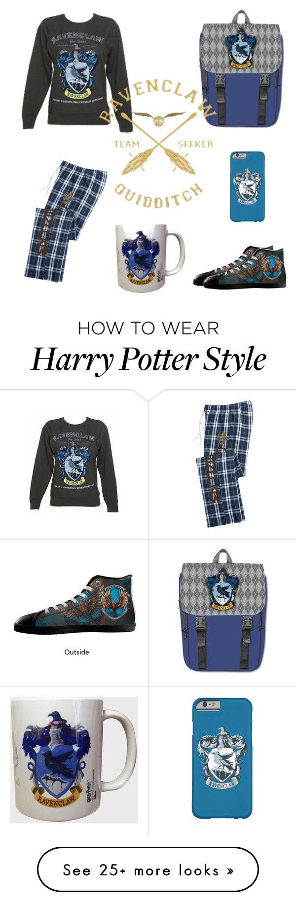 """""""Ravenclaw! My team!"""" by stylebyaa on Polyvore"""