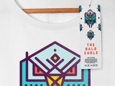 Bald Eagle T-shirt & Label