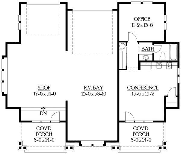 Best 25 shop with living quarters ideas on pinterest for Rv garage floor plans