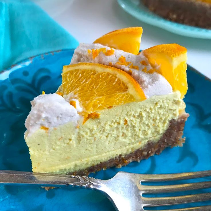 Incredible orange flavored 'cheesecake' without any dairy, gluten/grains, eggs, or refined sugar! This raw cake is made with only healthy, whole foods.