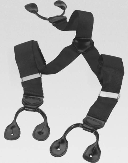 Big & Tall Black Formal Suspenders