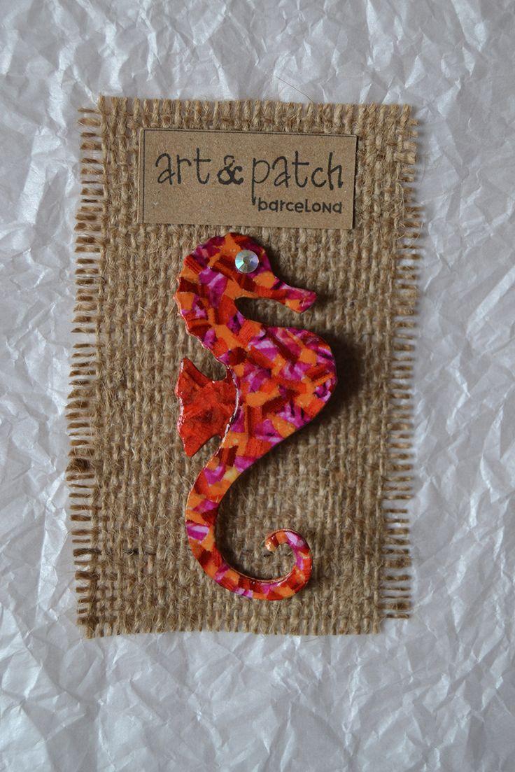 Broche hipocampo | www.artandpatchbarcelona.com