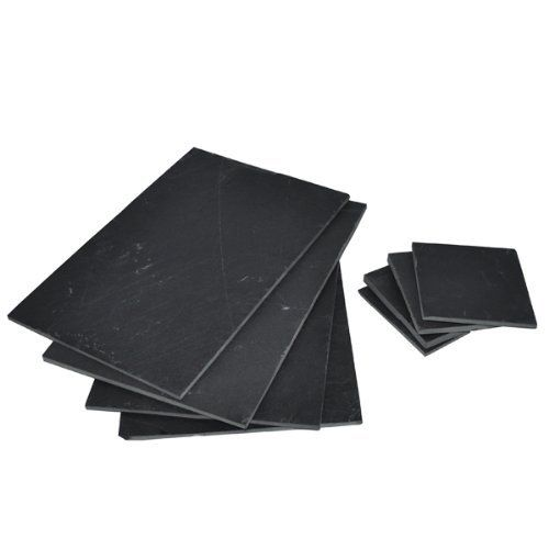 """Naturally Med Slate Placemats and Coasters - Set of 8 by Naturally Med. $169.99. Placemats 12"""" x 8"""". Coasters 4"""" x 4"""".. Makes a great gift. Set of 8 tablemats / placemats and coasters. Made and sold by Naturally Med. Made from slate. Set of 8 Slate Placemats and Coasters"""