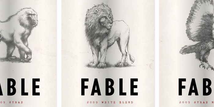 Fable South Africa wine labels
