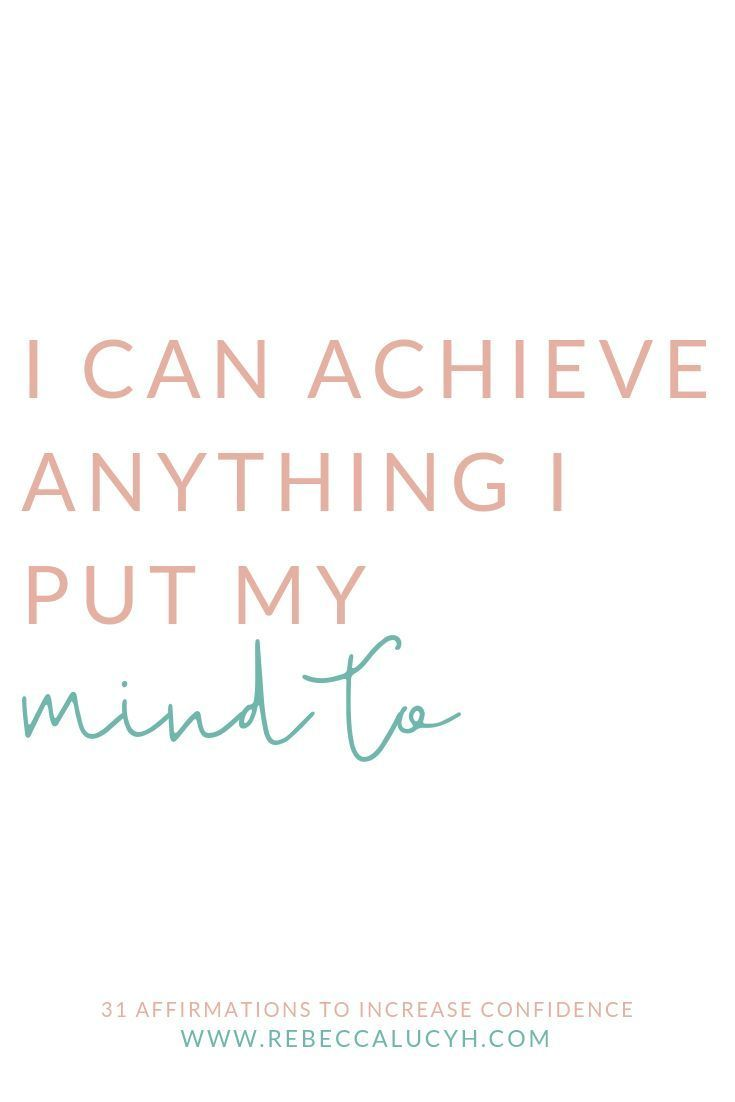 Achieve anything with my 31 affirmations for confi…