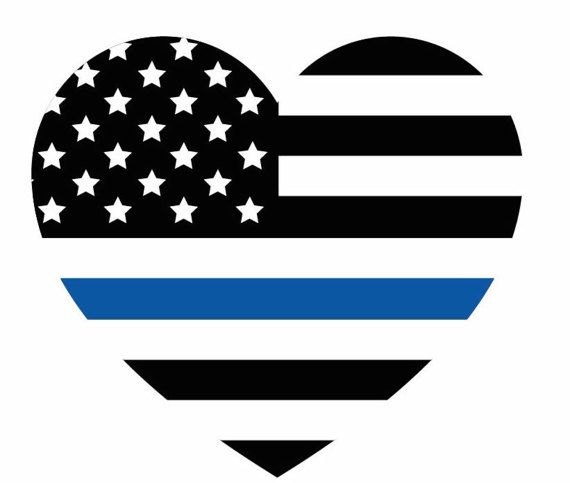 Thin Blue Line decals Blue lives Matter Police lives