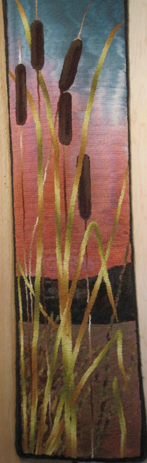 Bull Rushed hooked by Jen Lavoie: JUST Go Hook It - Rug Hooking