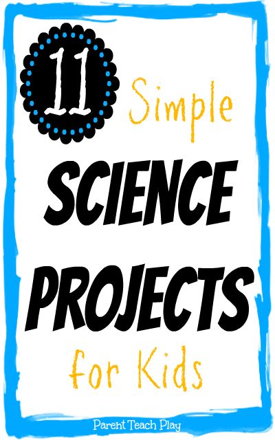 11 simple science projects for kids from our archives & from the After School Link-Up! These are easy to set up experiments & investigations for children.