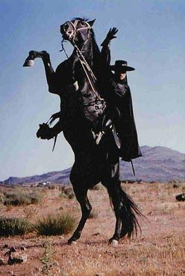 Zorro and his horse TORNADO.    /  A beautiful horse EL..