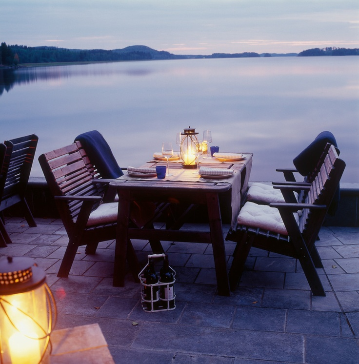 Image by Tulikivi - Photobucket. Lake Pielinen, Juuka, Finland. Enjoying the view before or after sauna and a nice swim.