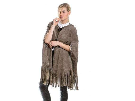 Suede Elephant Cape With Fringes by madecoutureeu on Etsy