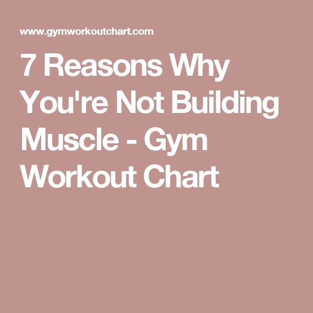 7 Reasons Why You're Not Building Muscle - Gym Workout Chart