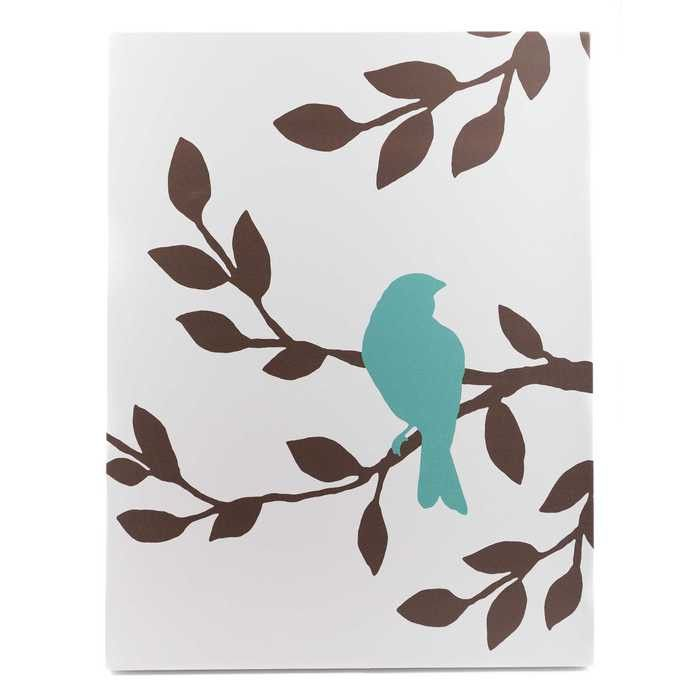 Tree with Bird Silhouette Canvas Art