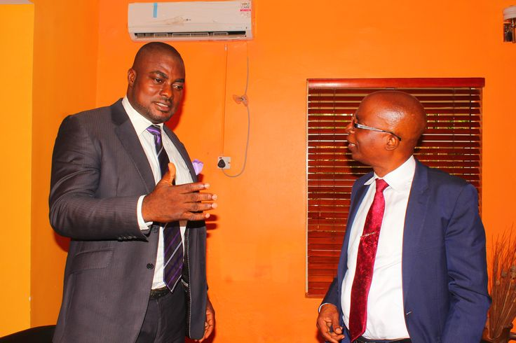 Femi Ipadeola and DR Olamitoye in a chit chat after the interview