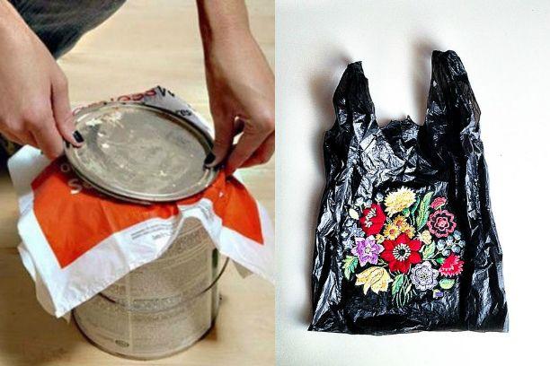 как использовать пластиковые пакеты