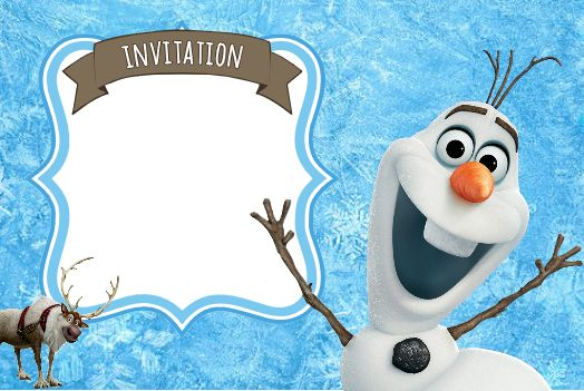 Blank Invitaitons Olaf Frozen | invitation-reine-des-neiges-olaf-frozen