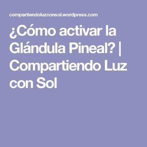 ¿Cómo activar la Glándula Pineal?   Compartiendo Luz con Sol