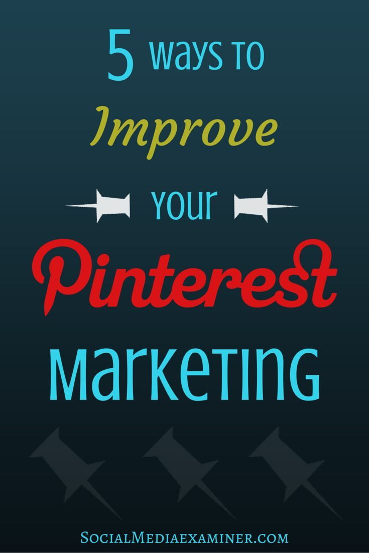 Do you Use Pinterest for your business? Learn how to optimize your images for pinning and repurpose your most popular pins for increased engagement. http://www.socialmediaexaminer.com/5-ways-improve-pinterest-marketing/?utm_source=Pinterest&utm_medium=Pin