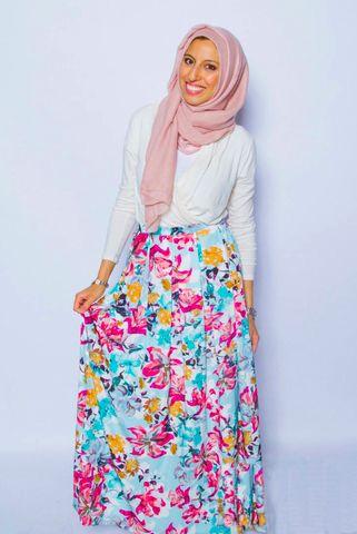 Pretty Pleated Twill Skirt - Floral