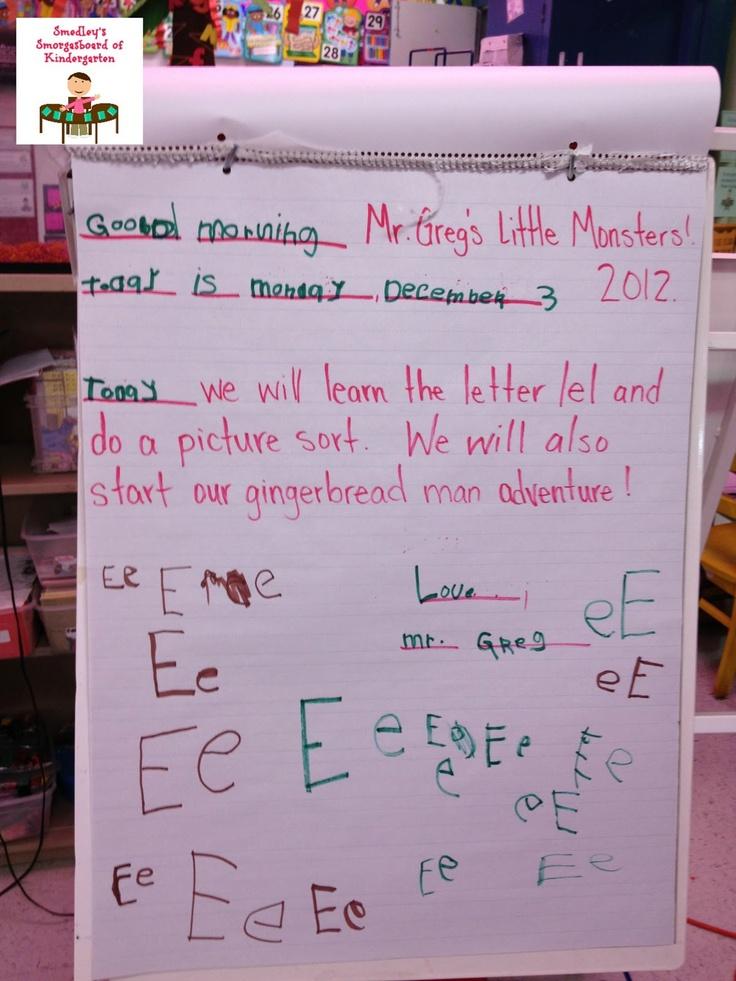 Classroom Greeting Ideas ~ Best kindergarten morning messages ideas on pinterest