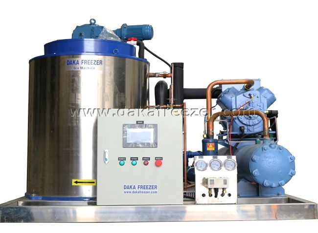 Flakeicemachine Ice Production 5 Ton Per Day Fresh Water Salt Water Air Cooling Water Cooling Ice Machine Ice Flakes