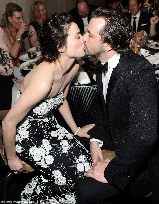 Crystal Reed and Darren McMullen at the Costume Designers Guild Awards in Hollywood.  (February 2014)