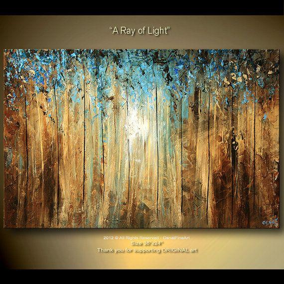 Landscape Blue Large Modern Abstract Art Original by osbox