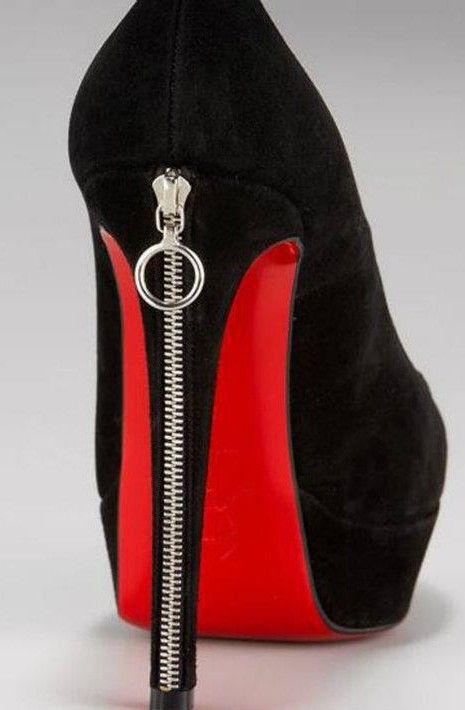 Louboutin Sexy Zipper Heel ♥✤ | Keep the Glamour | BeStayBeautiful