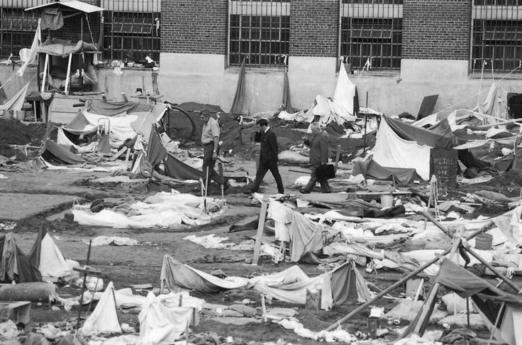 Scenes from the aftermath of the Attica Prison Riot, 1971.