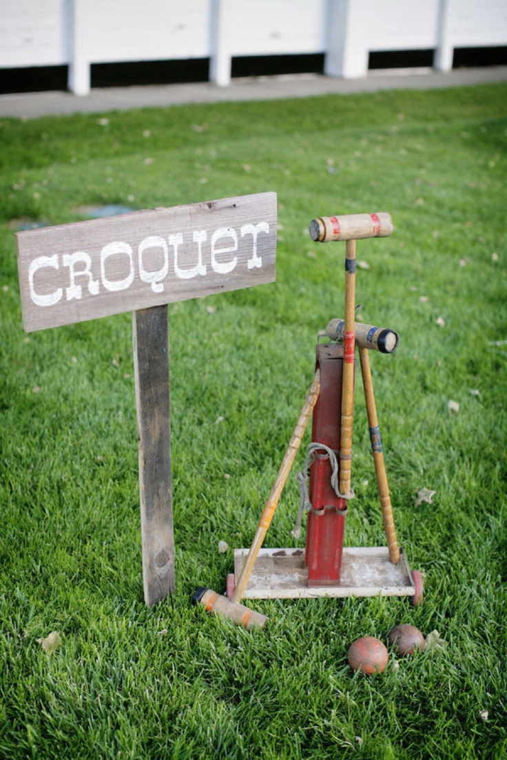#games #croquet Submitted by Alders Photography  Read more - http://www.stylemepretty.com/2010/08/18/diy-wedding-by-alders-photography/
