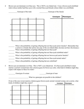 Printables Sex Linked Inheritance Worksheet 1000 ideas about sex linkage on pinterest dna genetics factors problem worksheet linked genes this product is a