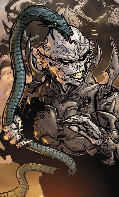 A Yuuzhan Vong with an amphistaff