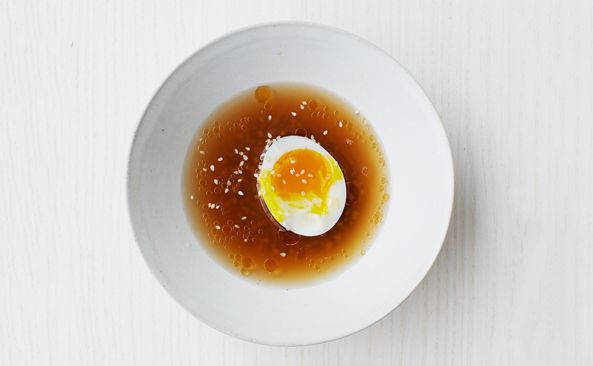 Buckwheat Soup with Six-Minute Eggs