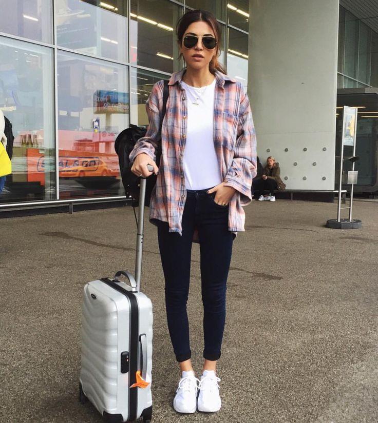 Un outfit cómodo para viajar