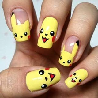 Pikachu: | 23 Awesome Nail Art Designs Inspired By Pokémon