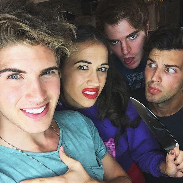 Joey Graceffa, MirandaSings, Shane Dawson, and Daniel Christopher