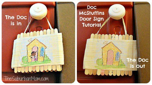 Doc McStuffins Doc's In Door Sign, Big Book Of Boo-Boos & Coloring Pages Craft Ideas